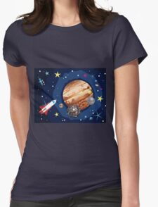Jupiter Planet Womens Fitted T-Shirt