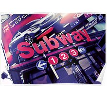 Subway Sign Poster