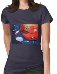 Mars Planet 2 Womens Fitted T-Shirt