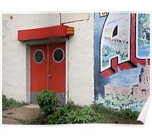 Red Door In Austin Poster