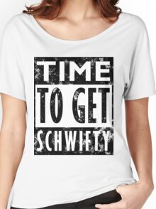 Rick and Morty Get Schwifty Lyrics Print Women's Relaxed Fit T-Shirt