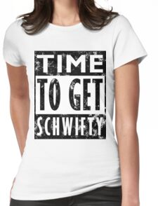 Rick and Morty Get Schwifty Lyrics Print Womens Fitted T-Shirt
