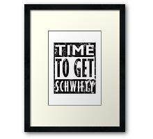 Rick and Morty Get Schwifty Lyrics Print Framed Print