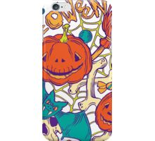 Halloween design with wicth stuff iPhone Case/Skin