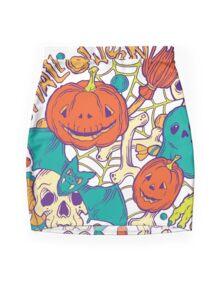 Halloween design with wicth stuff Mini Skirt