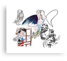 Story Lines - Pinocchio Characters 1 Canvas Print