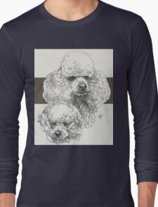 Poodle Father & Son (miniature) Long Sleeve T-Shirt