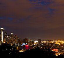 Seattle Skyline at Dusk by Scott Richards