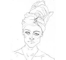 Portrait with Towel Photographic Print