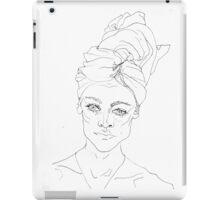 Portrait with Towel iPad Case/Skin