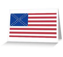 Alternate American Flag Greeting Card