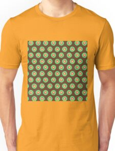 Polkadot Green and Brown Unisex T-Shirt