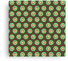 Polkadot Green and Brown Canvas Print
