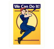 We Can Do It Print Art Print