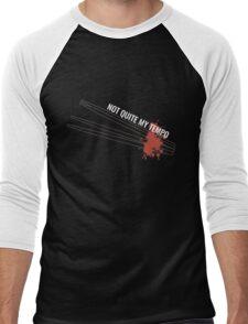 'Not Quite My Tempo' Whiplash (White) Men's Baseball ¾ T-Shirt