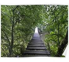 Old Wooden Bridge Poster
