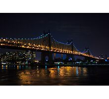 Queensboro Bridge at Night Photographic Print