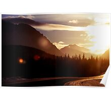 Through the Alaska Range on a Midwinter's Day Poster