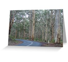 The road less travelled, Margaret River, Western Australia Greeting Card