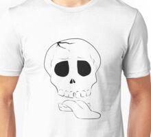 ZombieHIPPY • Skull - White Unisex T-Shirt