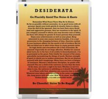 Desiderata on Red Ocean Sunset and Lone Palm iPad Case/Skin