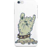 Grey zombie hand with bracelet iPhone Case/Skin