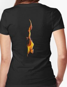 FLAME, FIRE, BLAZE, BURN, IGNITE, FLAME, HEAT, LIGHT, WARMTH Womens Fitted T-Shirt