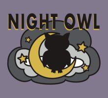 Owl Sitting on the Moon Kids Tee