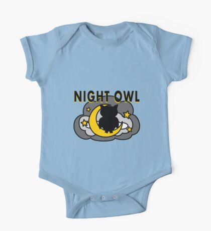 Owl Sitting on the Moon One Piece - Short Sleeve