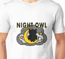 Owl Sitting on the Moon Unisex T-Shirt