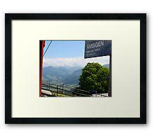 Swiss Trolley Framed Print