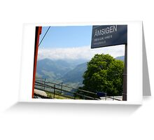 Swiss Trolley Greeting Card