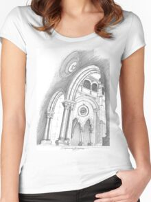 Mosteiro de Alcobaça. Women's Fitted Scoop T-Shirt