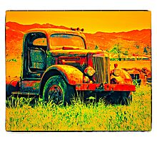 Travel To Oregon In Your Truck Photographic Print