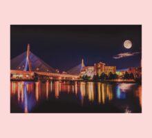 Moon light over Zakim bridge One Piece - Long Sleeve