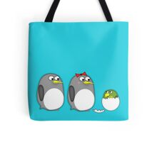 Honey, why does our kid look like a parrot? Tote Bag