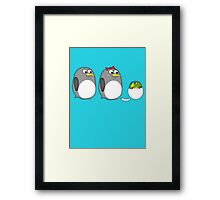 Honey, why does our kid look like a parrot? Framed Print