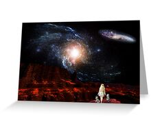 Galaxy Rise Greeting Card