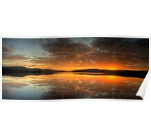 Red Sky In The Morning - Narrabeen Lakes, Sydney Australia - The HDR Experience Poster