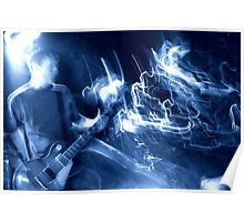 Guitar player atmosphere Poster