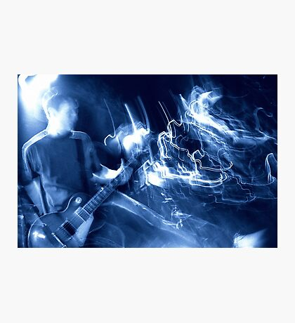 Guitar player atmosphere Photographic Print