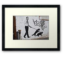 Presidential Graffiti Dog Walking Framed Print