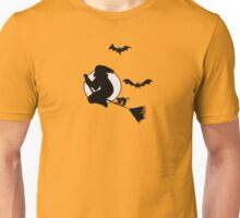 Halloween Witch and Bats Unisex T-Shirt