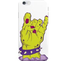 Green zombie hand with bracelet iPhone Case/Skin