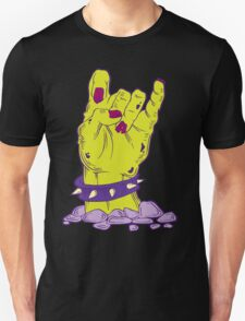 Green zombie hand with bracelet Unisex T-Shirt
