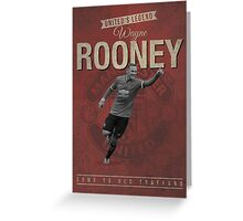 Wayne Rooney Retro Design Greeting Card
