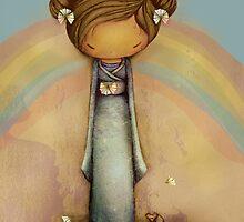 kokeshi rainbow by © Karin  Taylor