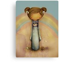 kokeshi rainbow Canvas Print