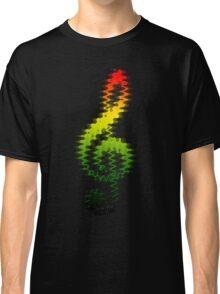 Treble Clef Rasta  Classic T-Shirt