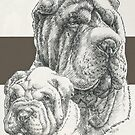 Chinese Shar Pei Father & Son by BarbBarcikKeith